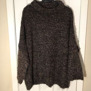Free People She's All That Brown Cowl Neck Sweater